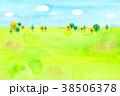 山 丘 水彩のイラスト 38506378