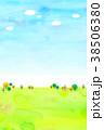 山 丘 水彩のイラスト 38506380
