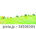 背景素材 木 丘のイラスト 38506384