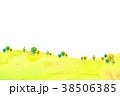 山 丘 水彩のイラスト 38506385