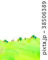 山 丘 水彩のイラスト 38506389
