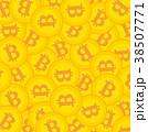 ビットコイン 仮想通貨 デジタル通貨のイラスト 38507771