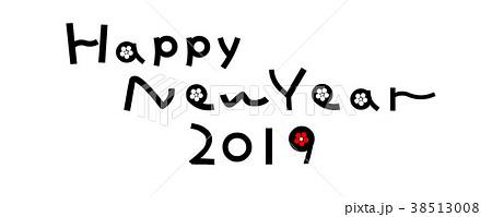 亥年年賀素材 Happy New Year 2019 38513008