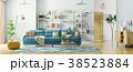 現代 インテリア リビングルームのイラスト 38523884