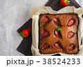ブラウニー ケーキ チョコケーキの写真 38524233