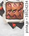 ブラウニー ケーキ チョコケーキの写真 38524234