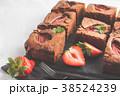 ブラウニー ケーキ チョコケーキの写真 38524239
