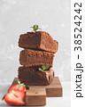 ブラウニー ケーキ チョコケーキの写真 38524242