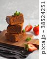 ブラウニー ケーキ チョコケーキの写真 38524251