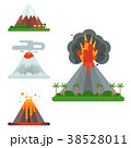 Volcano magma vector nature blowing up with smoke 38528011