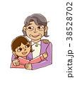 女の子とおばあちゃん 38528702