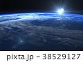 宇宙 地球 日の出のイラスト 38529127