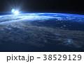 地球の日の出 perming 3DCGイラスト素材 38529129