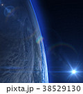 宇宙 地球 日の出のイラスト 38529130