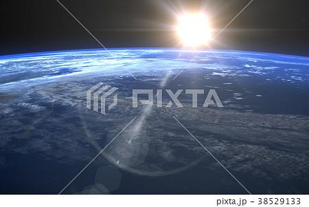地球の日の出 perming 3DCGイラスト素材 38529133