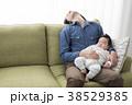 イクメン パパ 赤ちゃんの写真 38529385