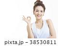 アジア人女性のポートレートシリーズ ハンドサイン 38530811