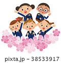 入学 桜  子供集合 38533917