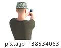 銃を構える男性 軍隊 後ろ姿カット 38534063
