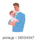 家族 父親 男性のイラスト 38534347