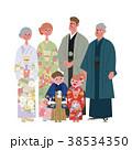 家族 着物 人物のイラスト 38534350