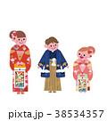 着物 人物 子供のイラスト 38534357