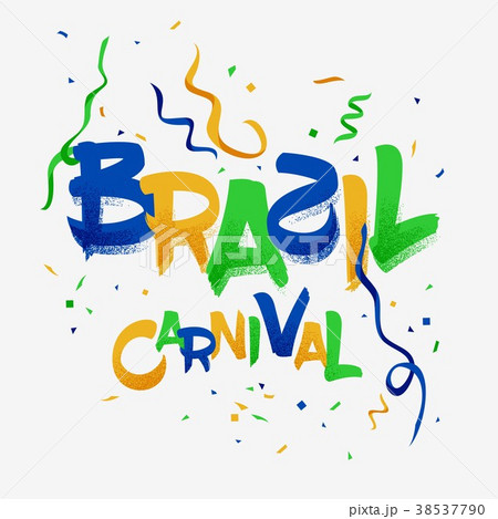 brazil carnival party celebration templateのイラスト素材 38537790