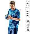 handball player teenager boy isolated 38547960