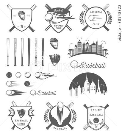 Set of Vector Logo and Badges Baseball 38548322