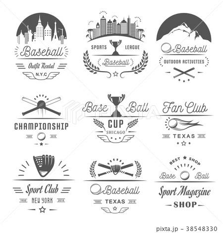 Set of Vector Logo and Badges Baseball 38548330
