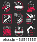 Vector Set of Badges, Logos and Sign Break Dance 38548335