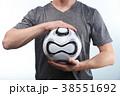 Man hold modern football ball 38551692