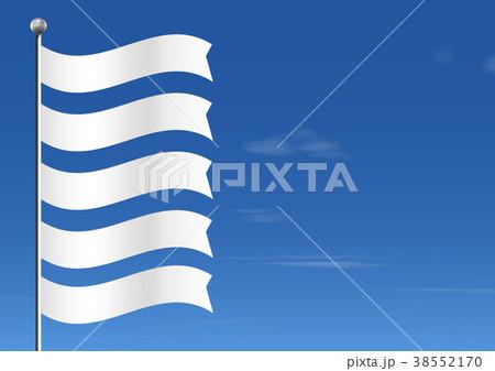 縦に並ぶ五つ無地の旗 38552170