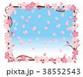 桜 春 桜のリースのイラスト 38552543
