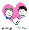 家族 親子 ベクターのイラスト 38553576