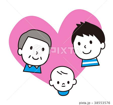 笑顔 父子 祖父 ハート 38553576
