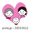 家族 親子 ベクターのイラスト 38553612