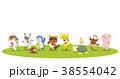 動物 陽気 ノリノリのイラスト 38554042