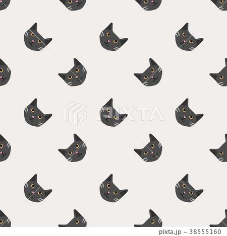 Seamless background nursery cute lovely cat face 38555160