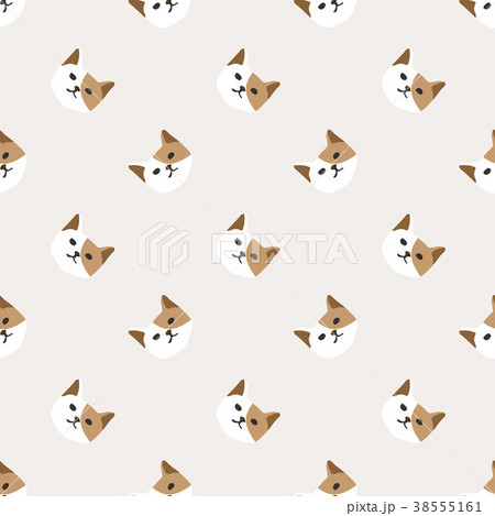 Seamless background nursery cute lovely cat face 38555161