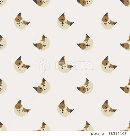 Seamless background nursery cute lovely cat face 38555163