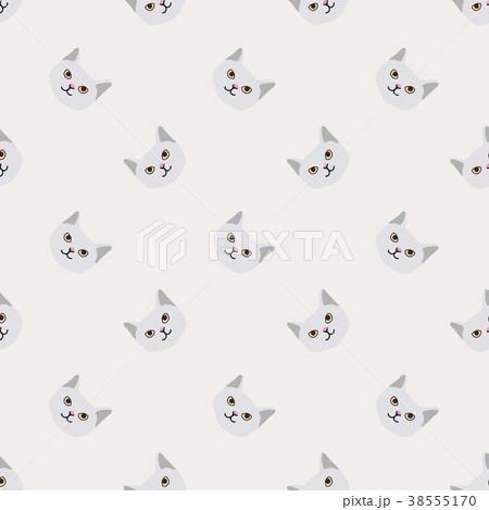 Seamless background nursery cute lovely cat face 38555170