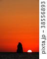 風景 日没 太陽の写真 38556893