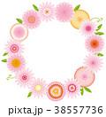 花 リース 植物のイラスト 38557736