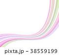 縞模様 ストライプ リボンのイラスト 38559199