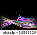 縞模様 ストライプ リボンのイラスト 38559220