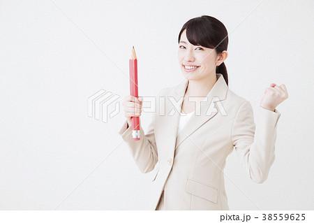 ビジネス 女性 ビジネスマン 白バック 38559625