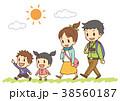 家族 旅行 家族旅行のイラスト 38560187