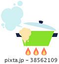 吹きこぼれる鍋 38562109