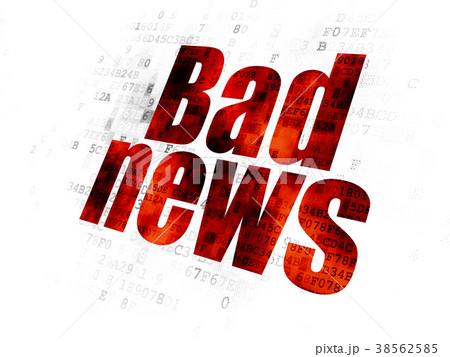 News concept: Bad News on Digital background 38562585
